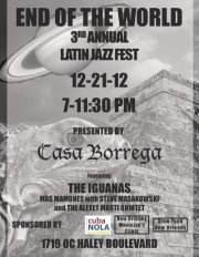 3rd Annual Latin Jazz Fest at Casa Borrega 12-21-2012