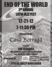 3rd Annual Latin Jazz Fest at Casa Borrega 12-21-2012