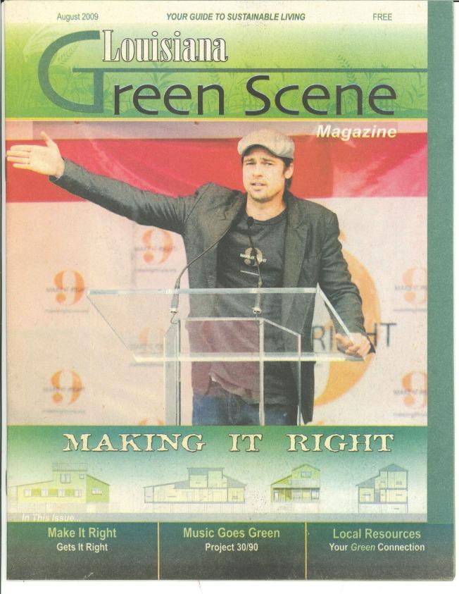 LA Green Scene 2009 AUGUST - Cover